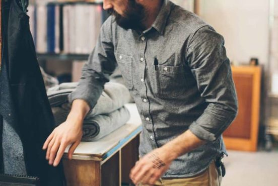 mens chambray shirts