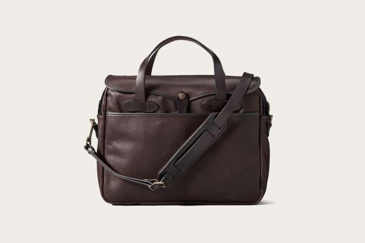 filson leather messenger