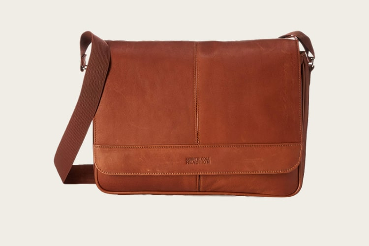 kenneth cole reaction messenger leather bag