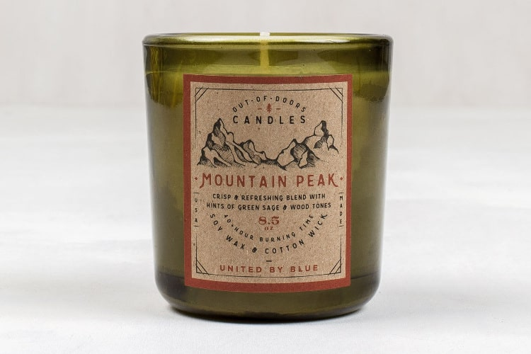 mountain peak candle
