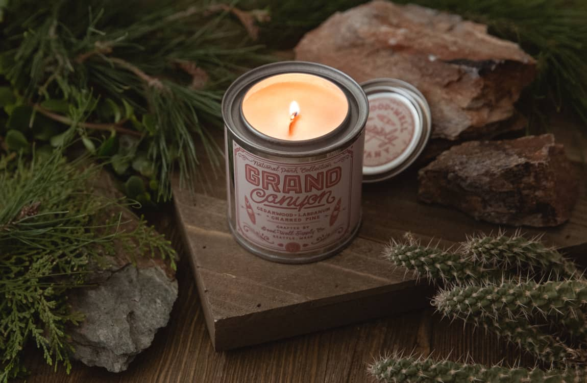 outdoor inspired candles
