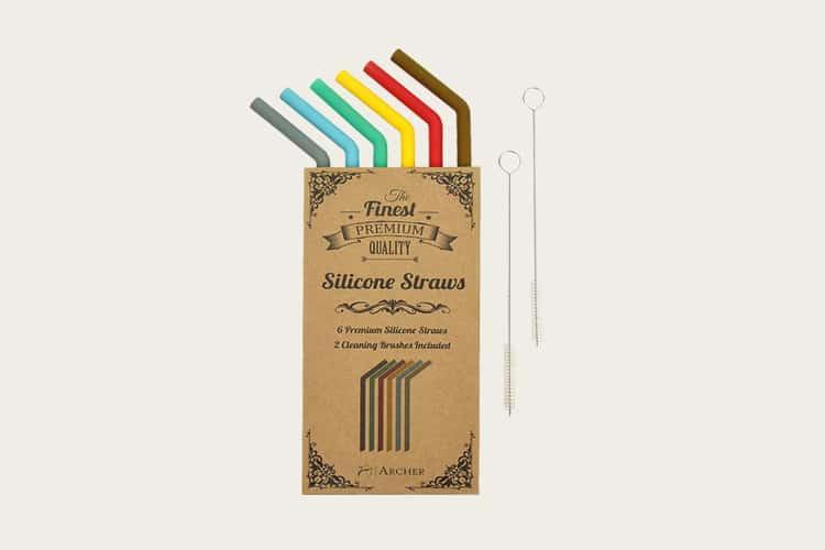 archer silicone straws