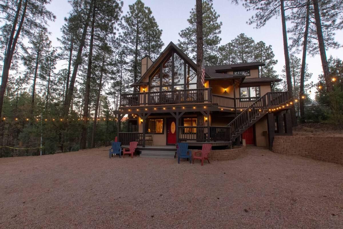 pine arizona pet friendly cabin