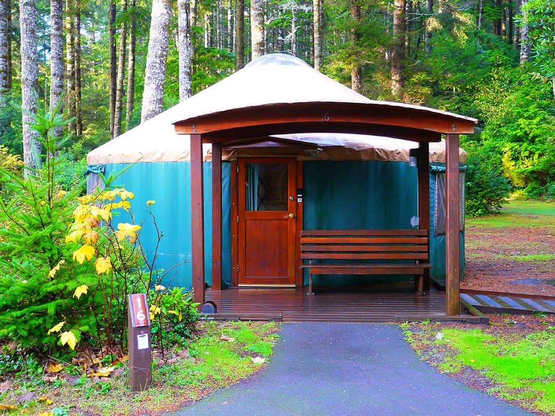 Umpqua Lighthouse State Park Yurts