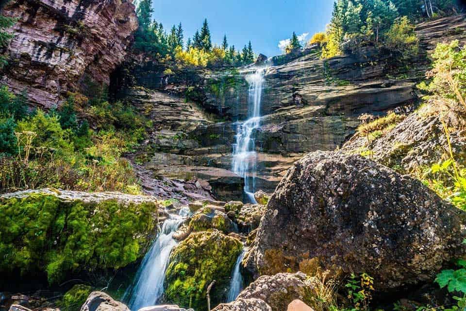 bear creek falls telluride