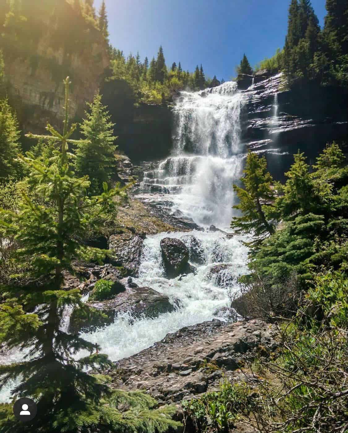 bear creek falls telluride
