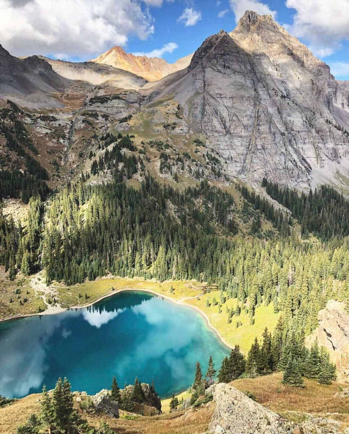 blue lakes trail colorado