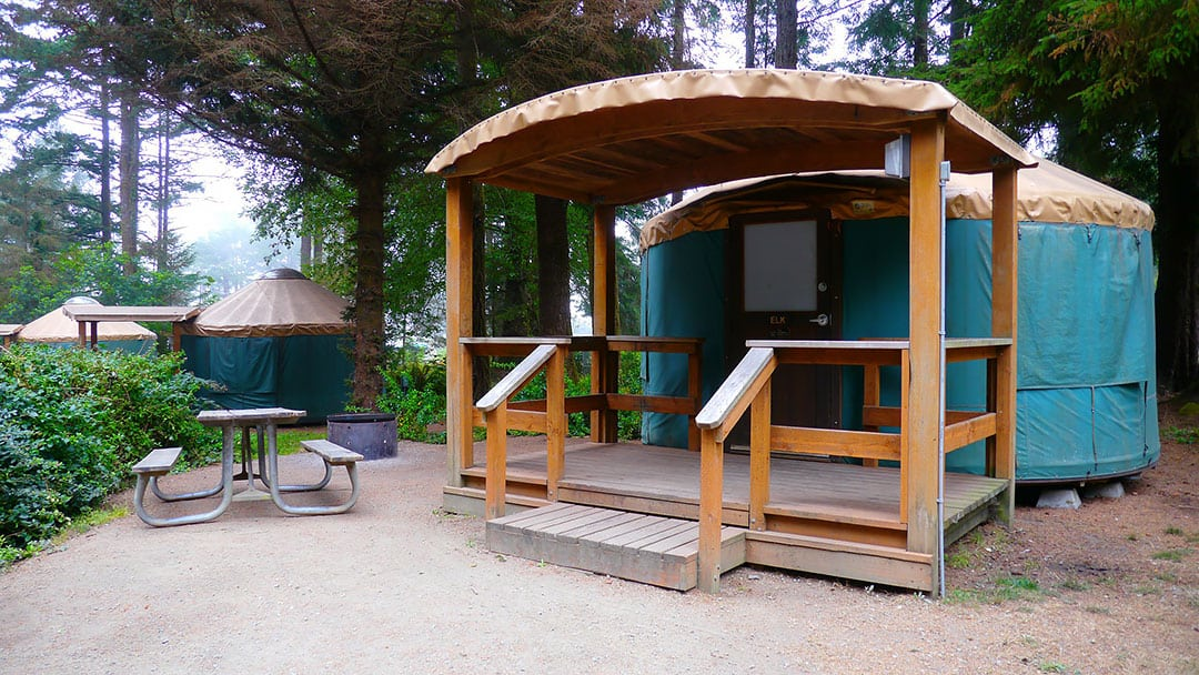 harris beach state park yurts