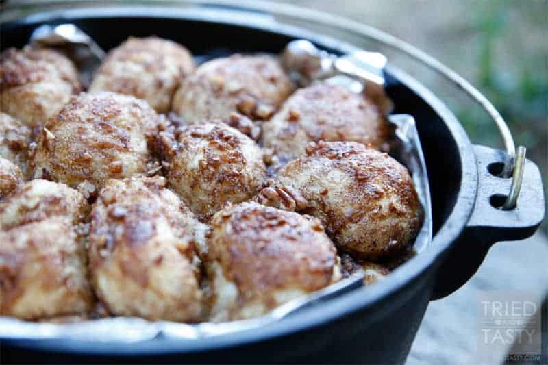 Dutch Oven Cinnamon Nut Pull Aparts