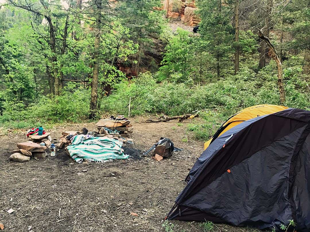 west fork campsite