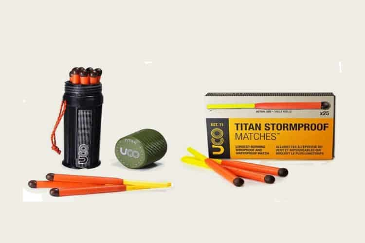 1 Titan Stormproof Match Kit and 1 Box Titan Stormproof Matches