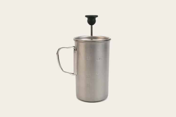snow peak titanium french press