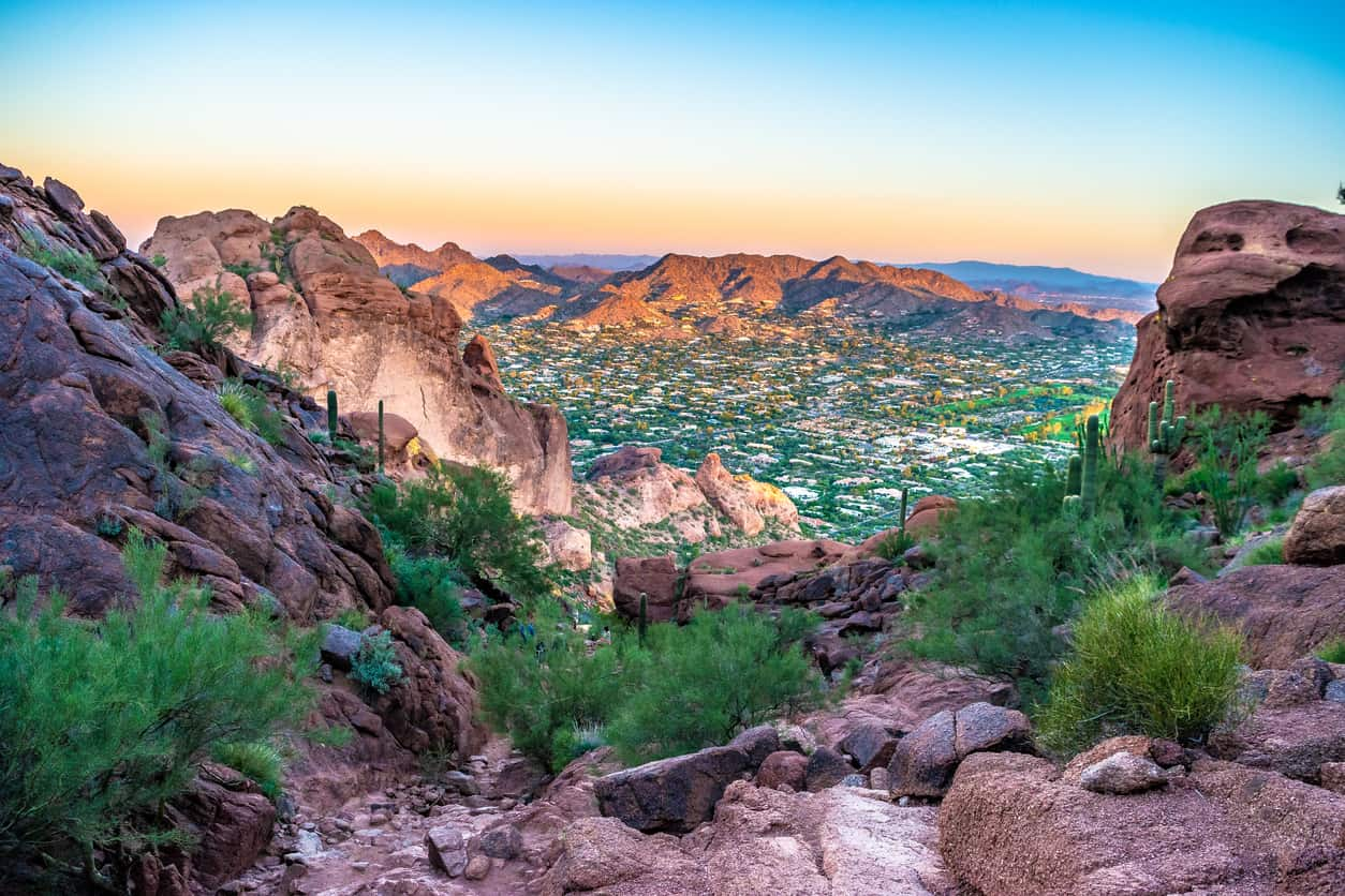 Colorful Sunrise on Camelback Mountain