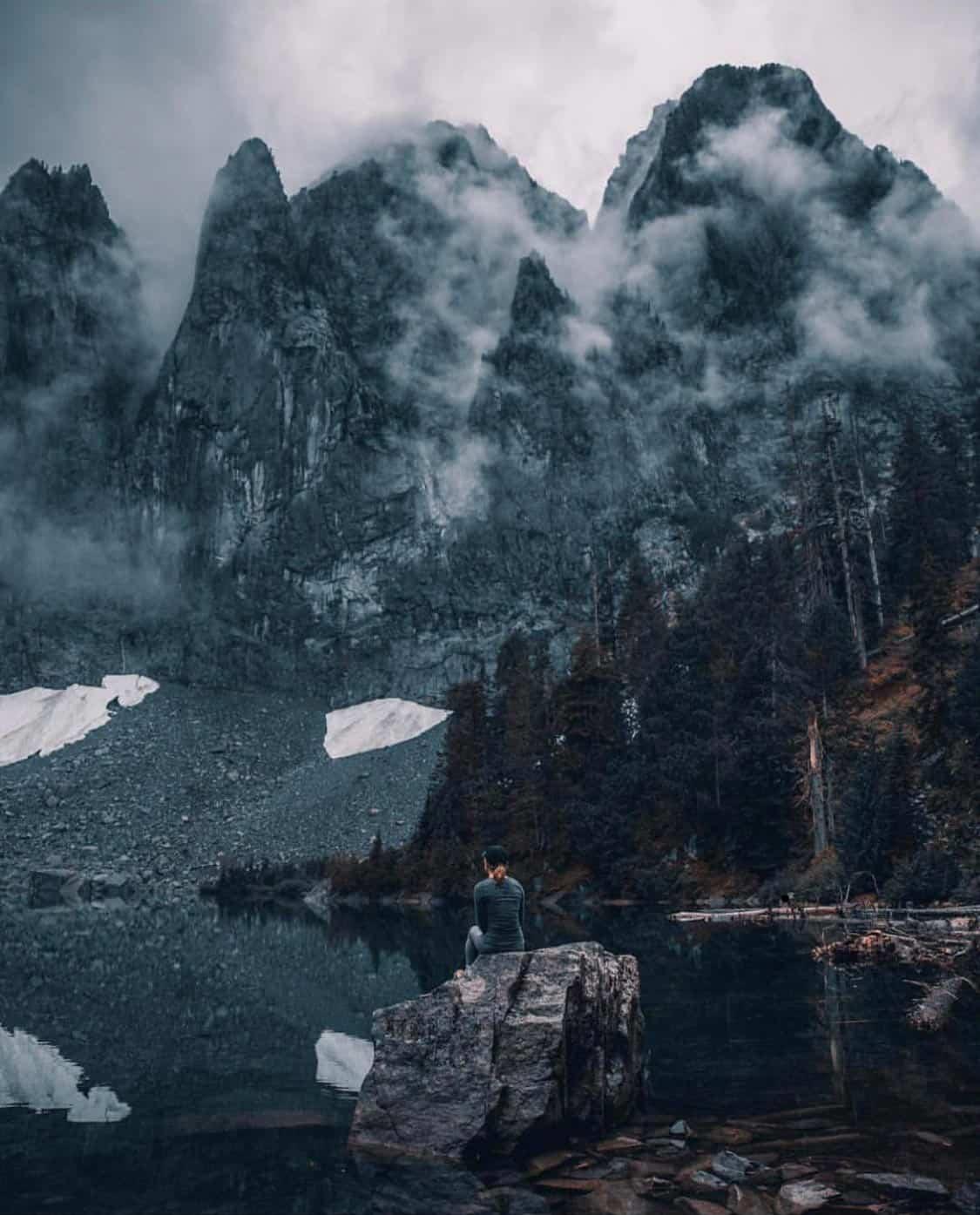 lake serene hike