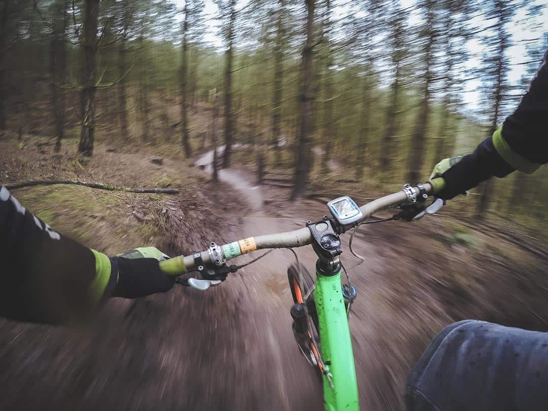 mountain biking camping activity