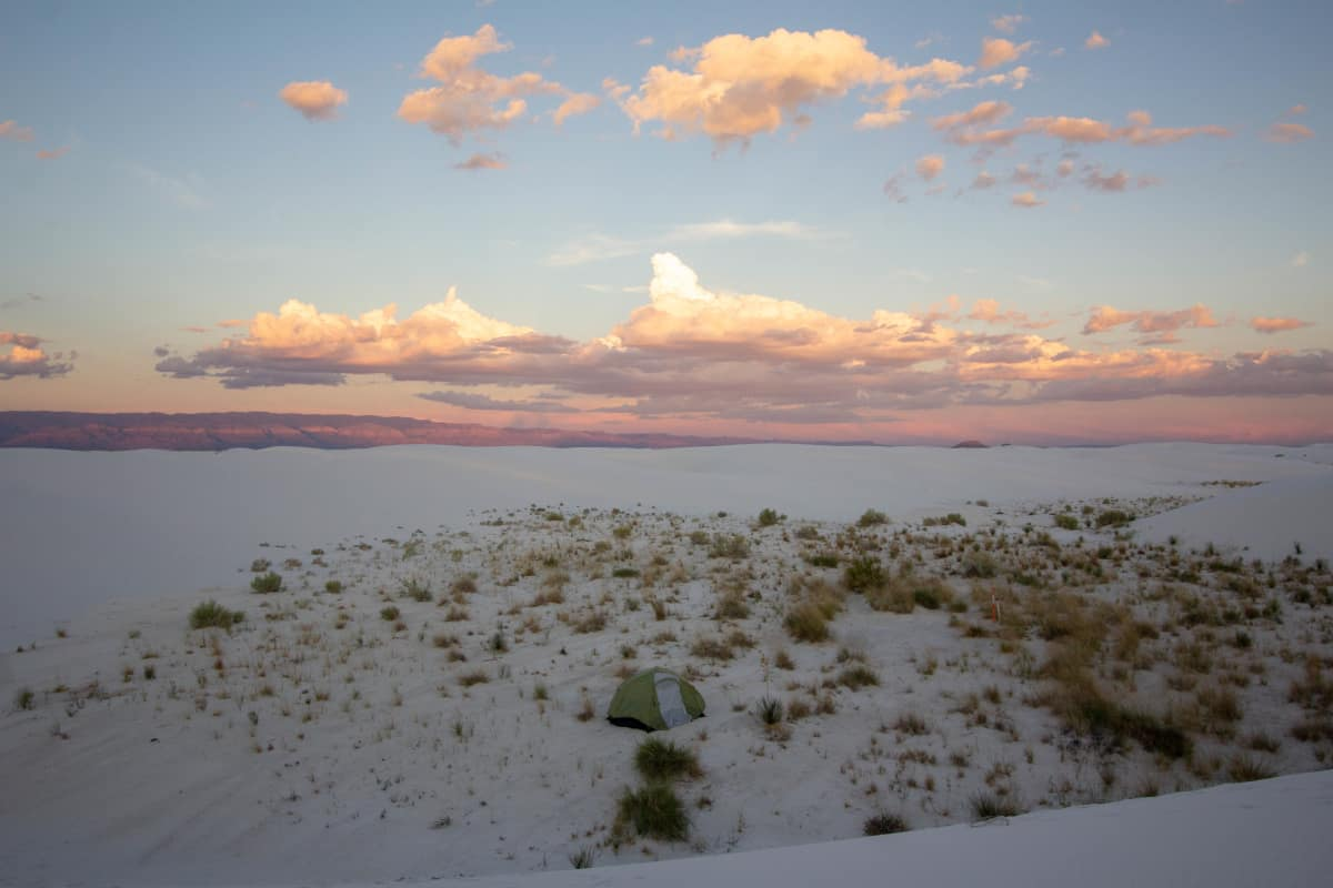 white sands camping