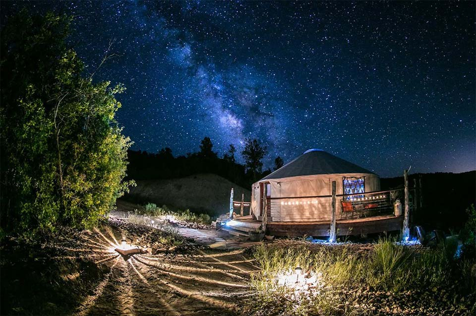 unqiue utah airbnbs zion backcountry yurt
