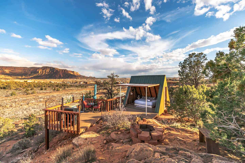 utah airbnbs - a frame cabin