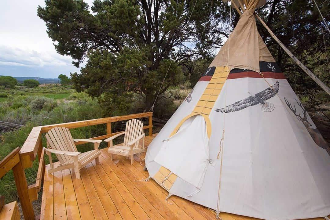 utah airbnbs - native american tipi
