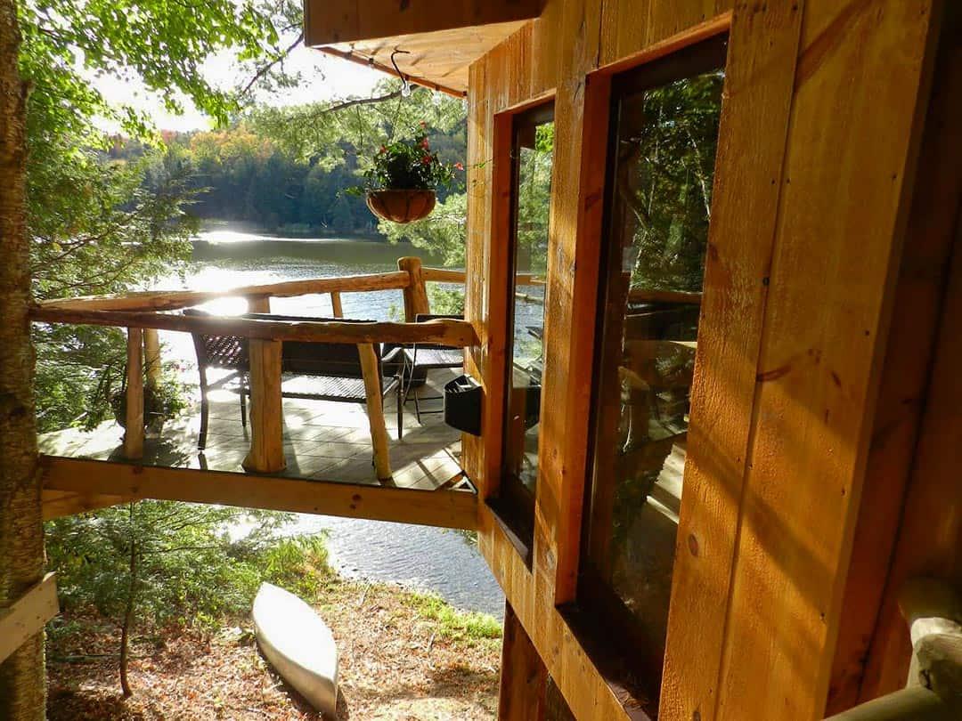 walker pond tree cabin