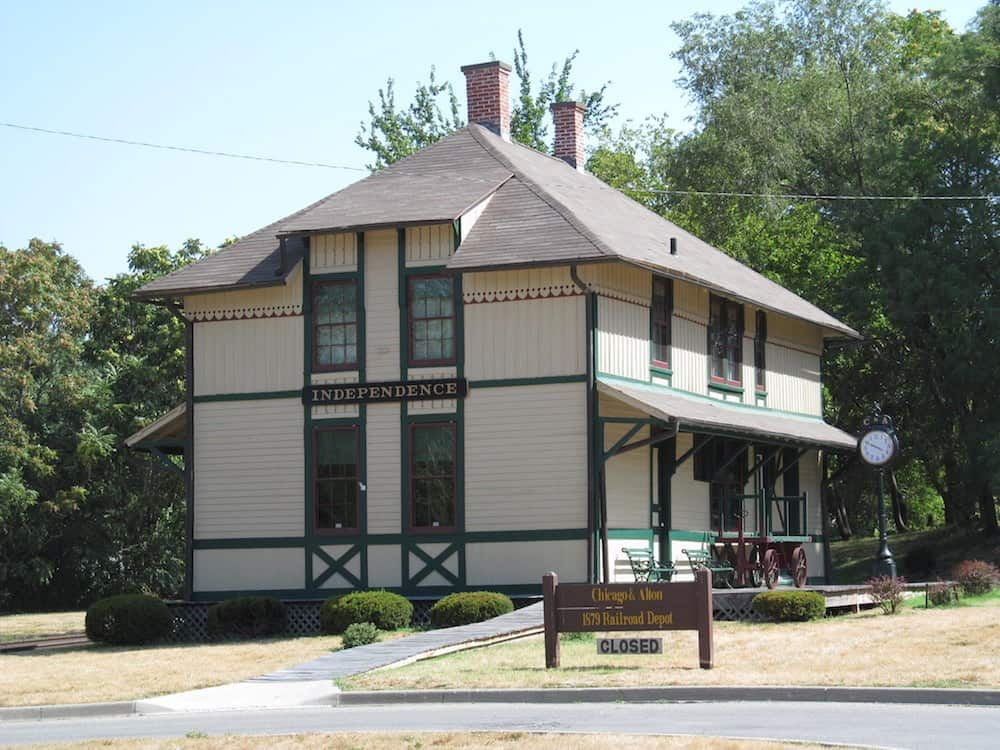 Chicago and Alton Depot at Frontier Trails Museum