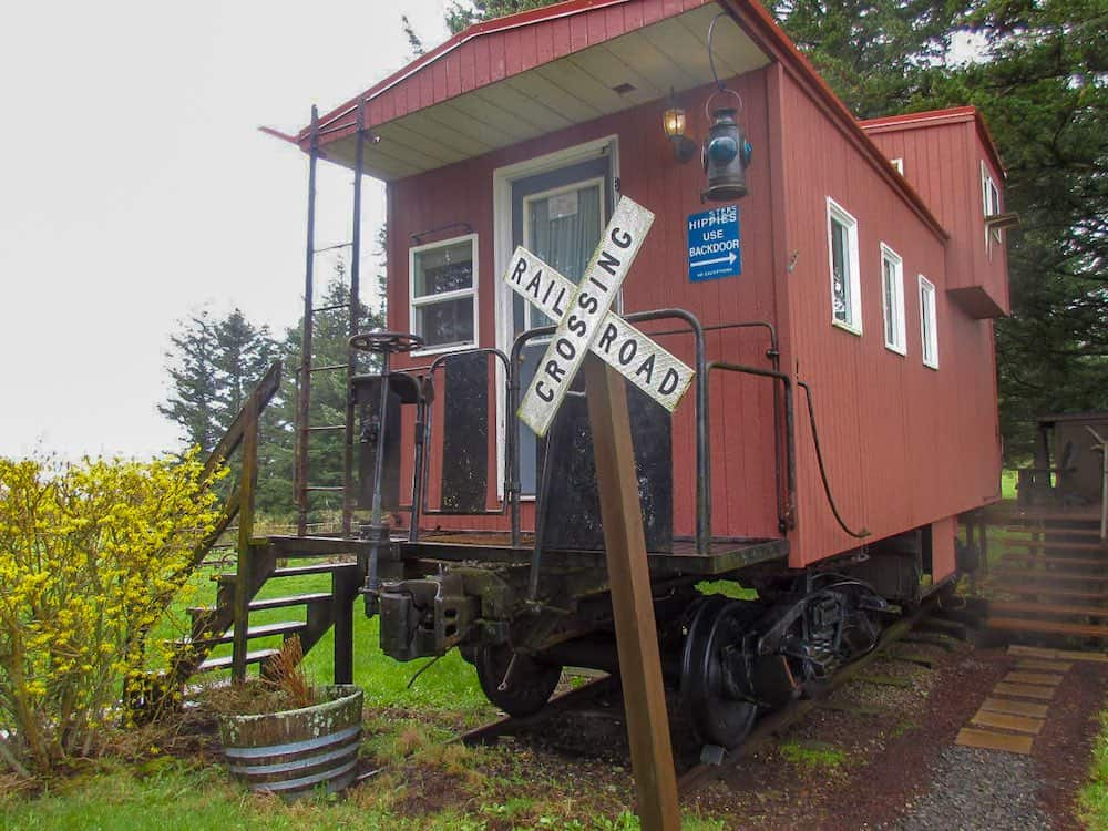 Little Red Caboose vacation rental in Oregon
