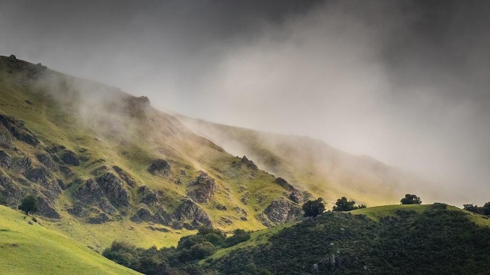 Fog Lifting on Mission Peak