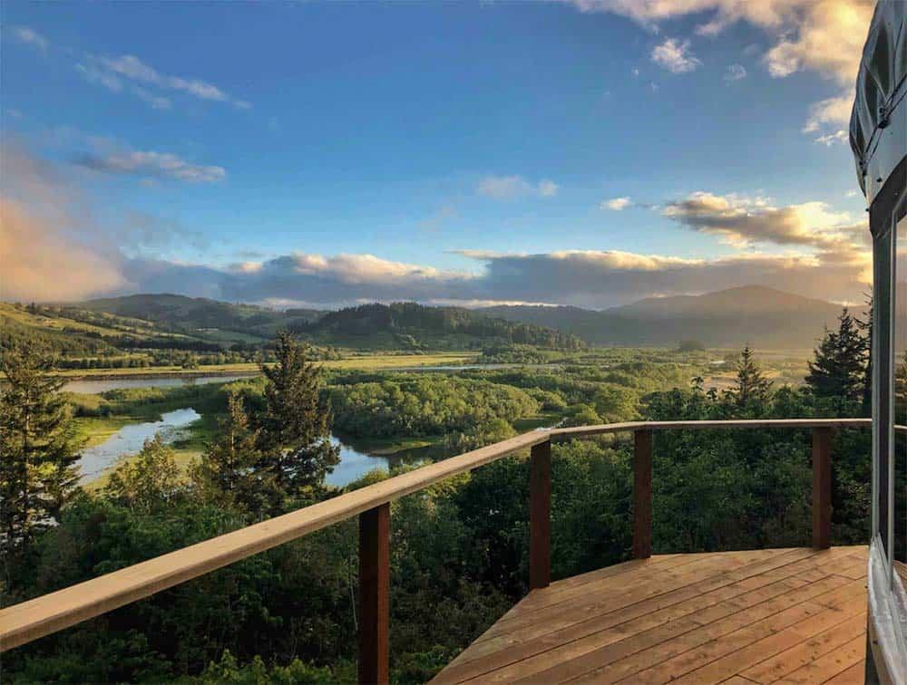 eagleview yurt airbnb oregon