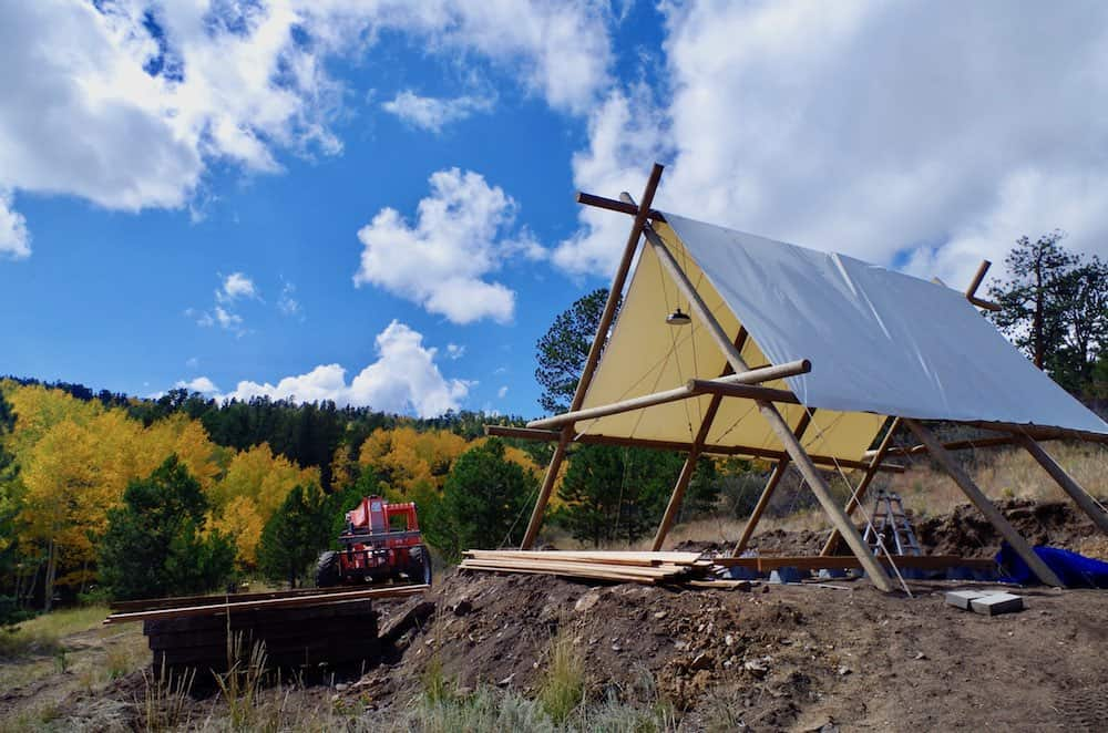Black Tree Resort Tent Construction