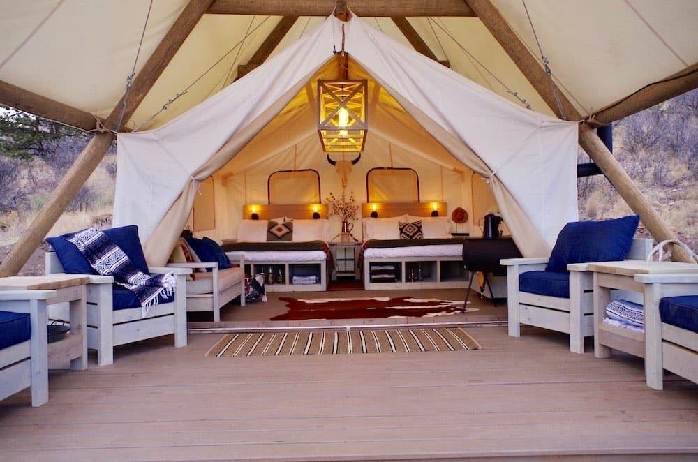 Glamping tent at Black Tree Resort