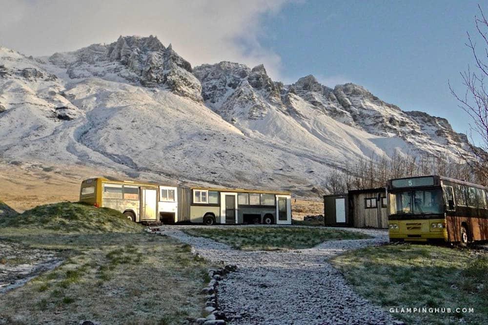Bus Village In Reykjavik Iceland