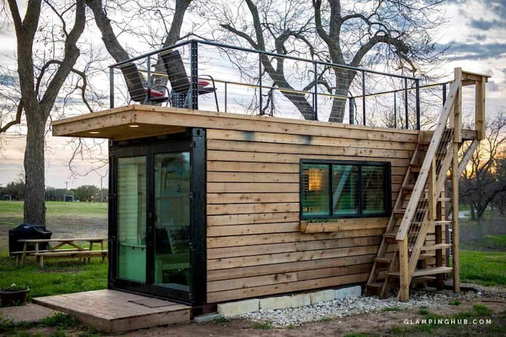 Elegant Shipping Container House near Waco Texas