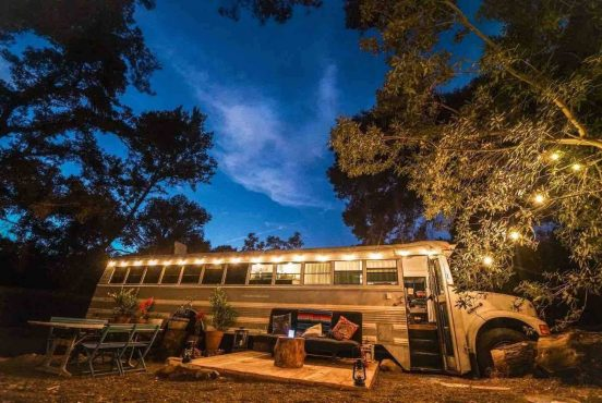 Glamping bus in Calabasas California
