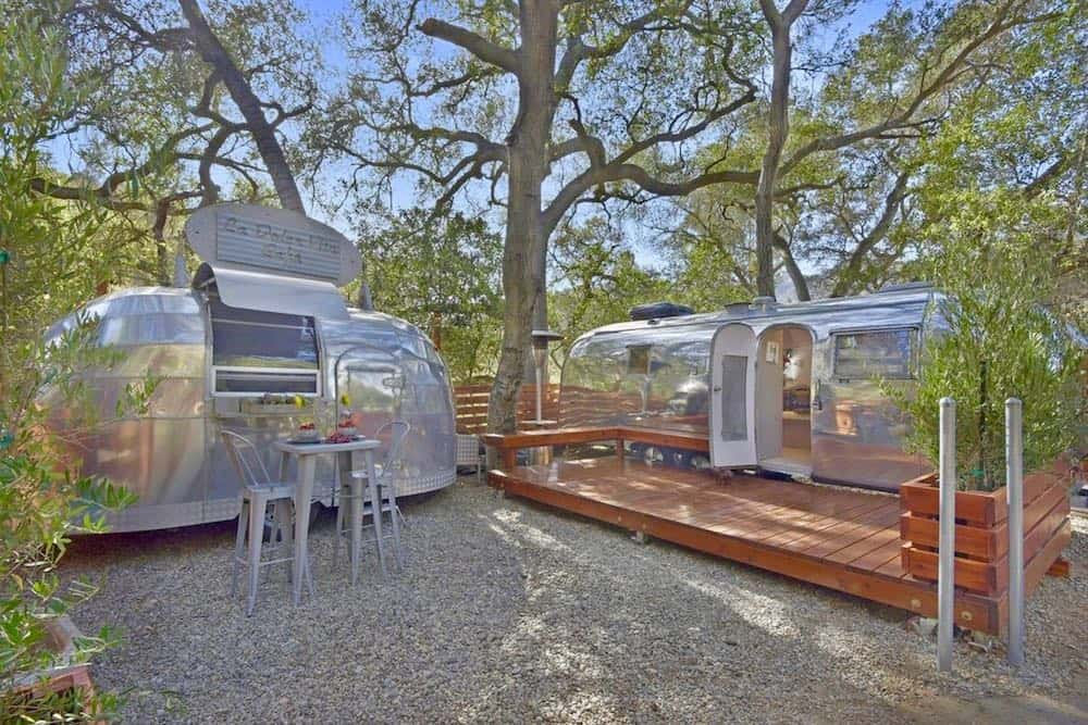 Love Stream vintage Airstreams vacation rental in California