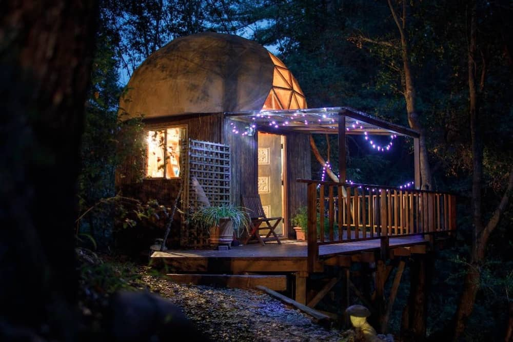 Mushroom Dome Cabin vacation rental in California