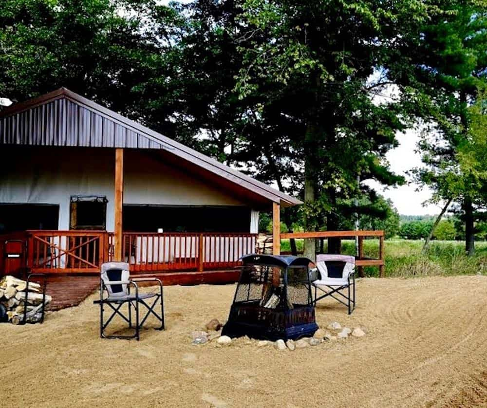 Nature Preserve Glamping Tents in Wisconsin