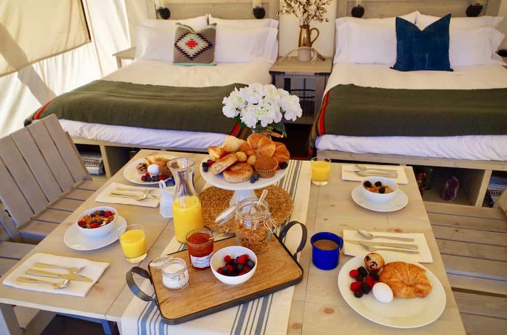 Room service at the Black Tree Resort