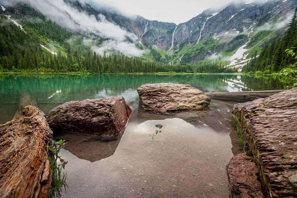 avalanche lake glacier