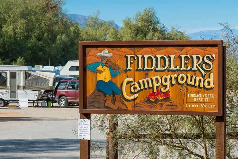 fiddlers campground death valley