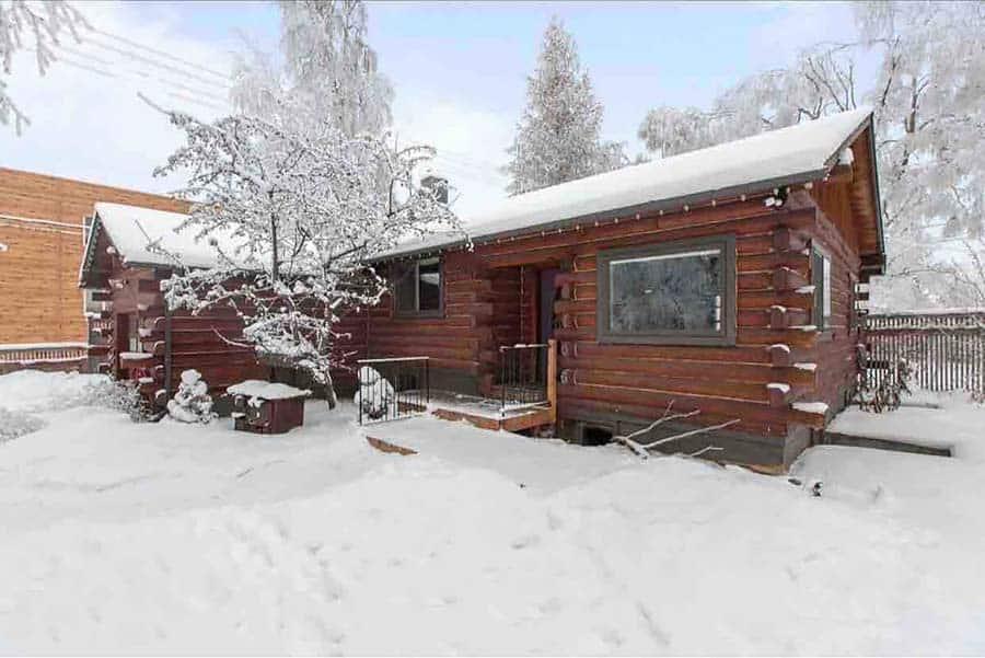 log cabin rental anchorage alaska