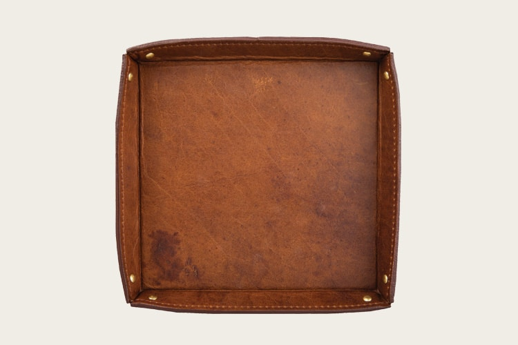 Onward Reserve Bison Leather Valet Tray