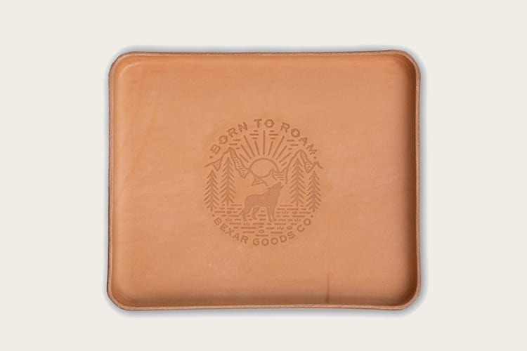 Bexar Goods Born to Roam Valet Tray