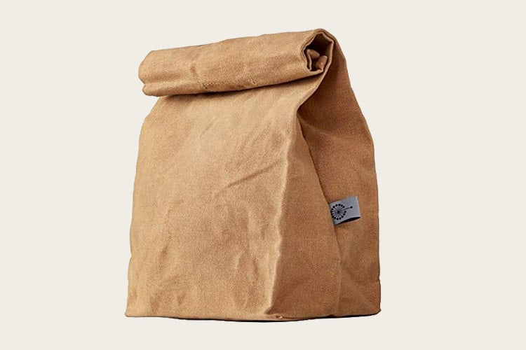 colony co waxed canvas lunch bag