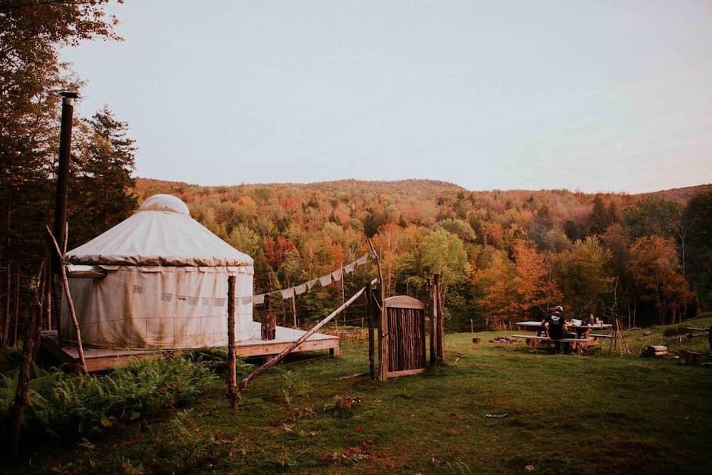 La Lu Farm Yurt Airbnb in Vermont