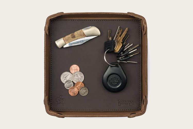 Saddleback Leather Firm Leather Valet Tray
