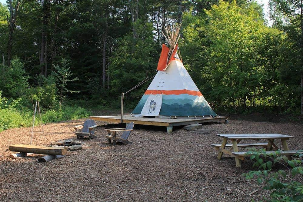 Tipi Retreat at Nwyfe Farm Airbnb in Vermont