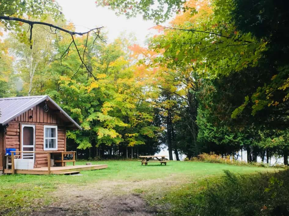 cabin on private lake