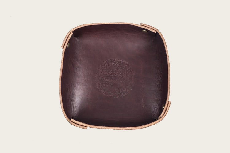 Go Forth Goods Leather Valet Tray