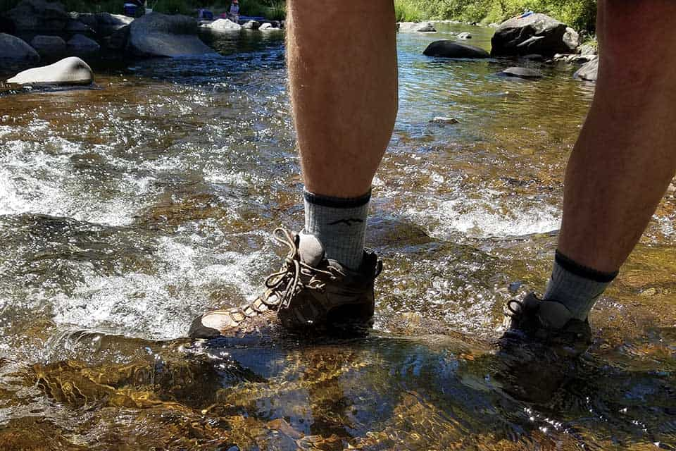 darn tough hiker cushion socks water