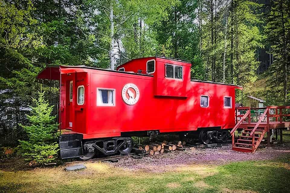 caboose airbnb montana